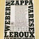 Webern, Zappa, Varese, LeRoux, SFCMP